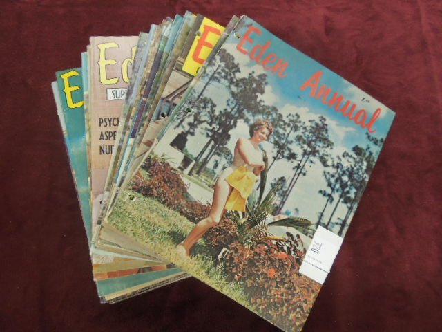 27 - 1950's & 1960's Eden Annual Nudist Magazines