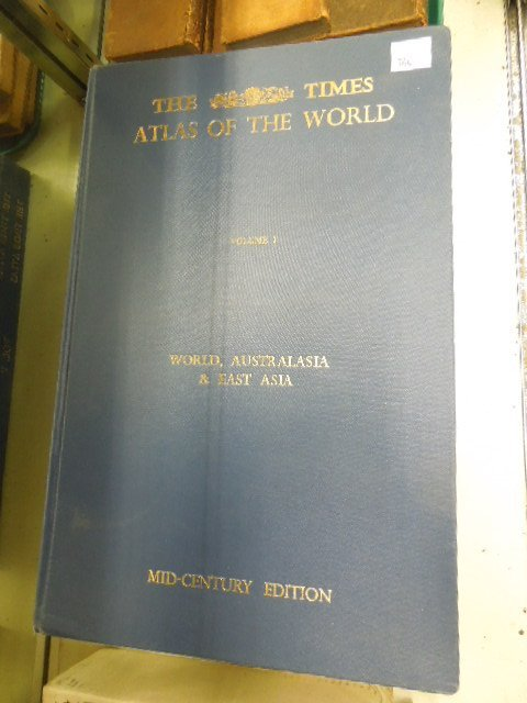 5 Vols: Times  World Atlas, Mid century edition