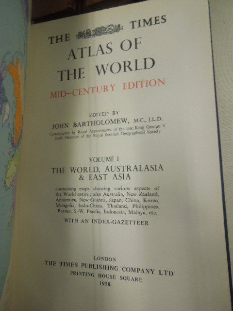 5 Vols: Times  World Atlas, Mid century edition - 3