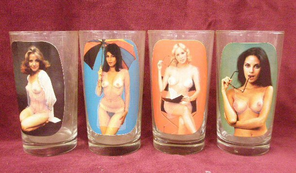 1980's Playboy Playmate Glasses