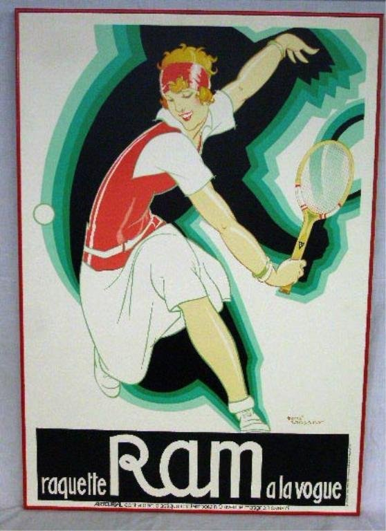 Rene Vincent French Tennis Poster