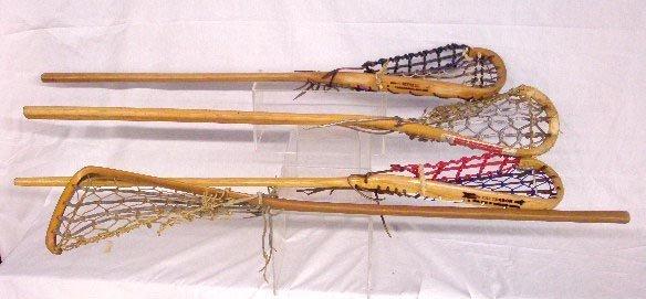 Vintage Wood Lacrosse Sticks