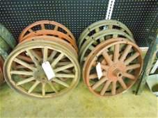 Set Of 7 Early Ford Wood Spoke Wheels