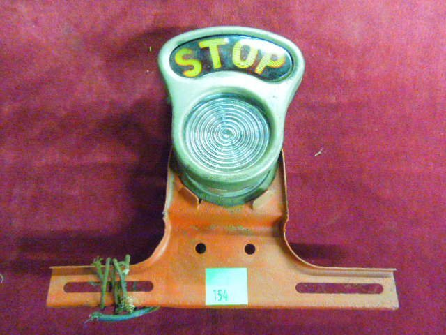 Vintage Stop Light With License Plate Mount.