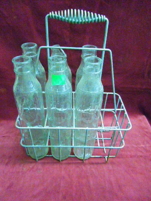 6 Rare Antique Glass Shell Oil Bottles With Carrie