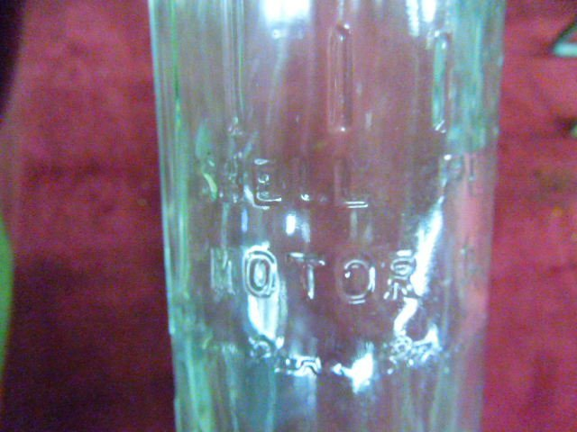 6 Rare Antique Glass Shell Oil Bottles With Carrie - 3
