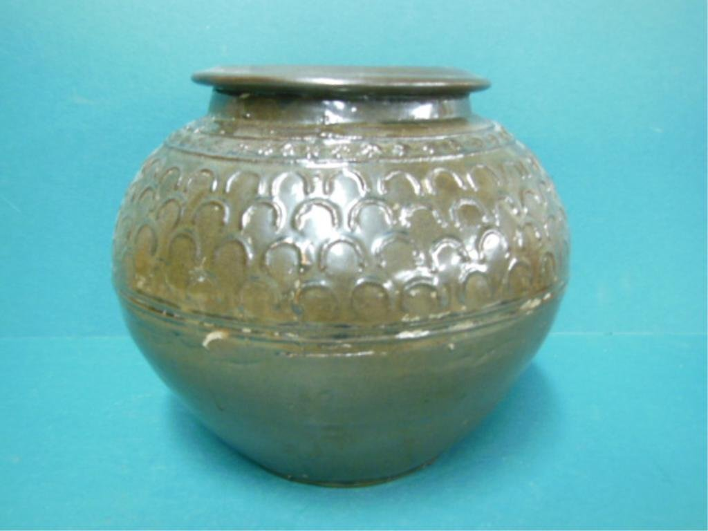 Chinese Brown Glaze Pottery Planter