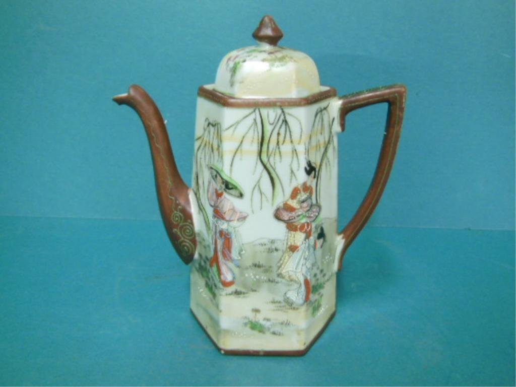 Satsuma Porcelain Coffee Pot