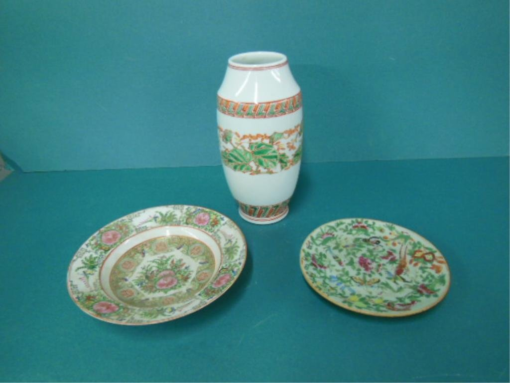 3 Chinese Porcelain Pieces