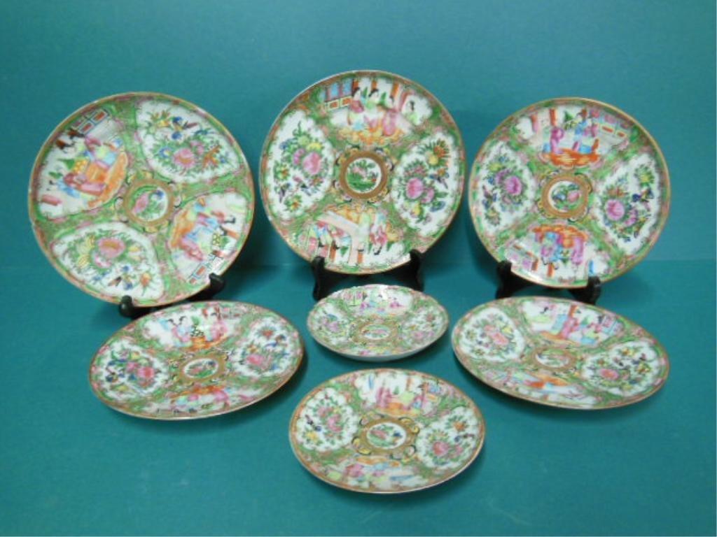 7 Rose Medallion Plates