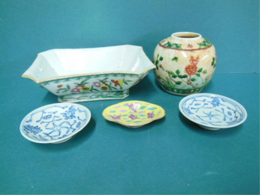 5 Pieces Chinese Porcelain