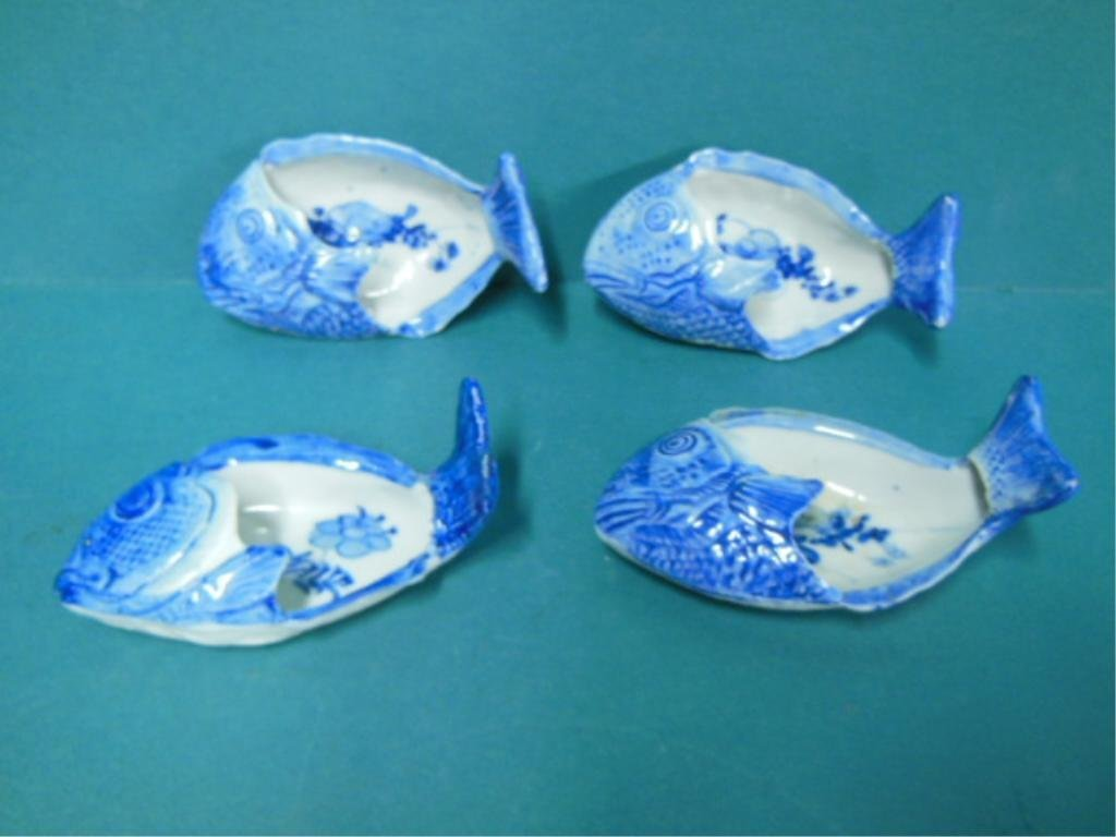 4 Chinese Blue & White Porcelain Bowls