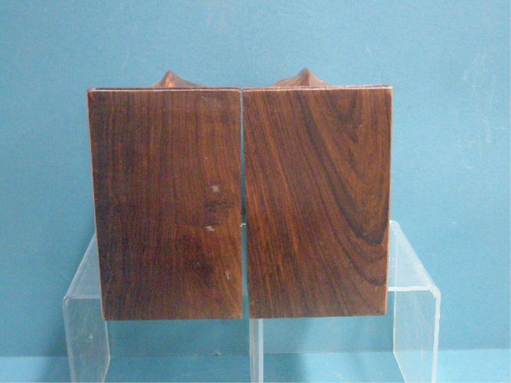 Wood & Ivory Elephant Bookends - 2