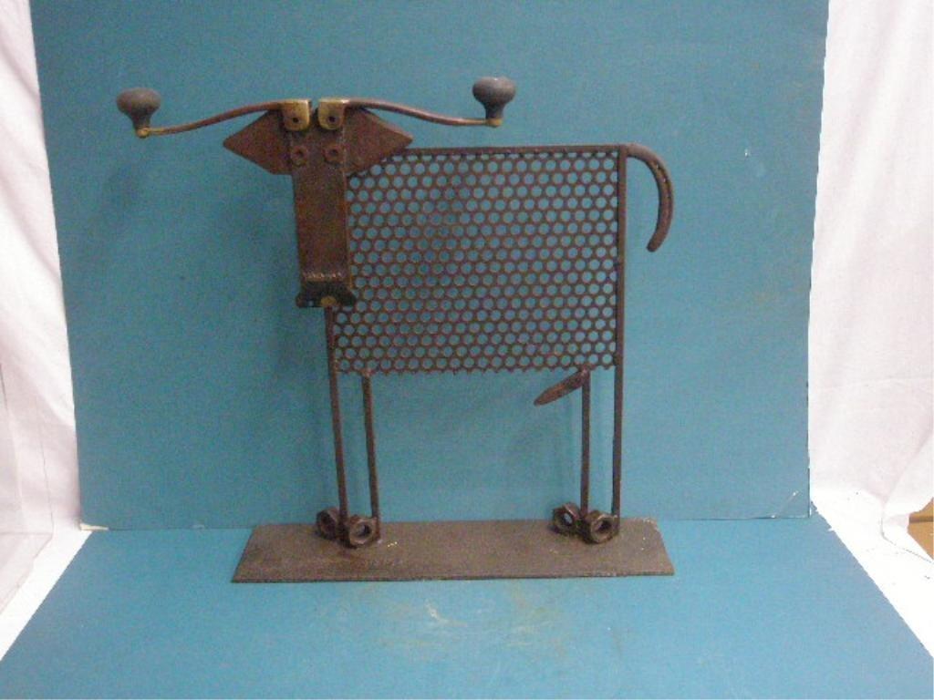 Bill Heise Metal Cow Sculpture