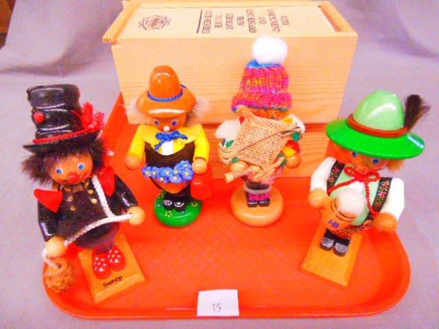 (4) Steinbach Mini Nutcrackers