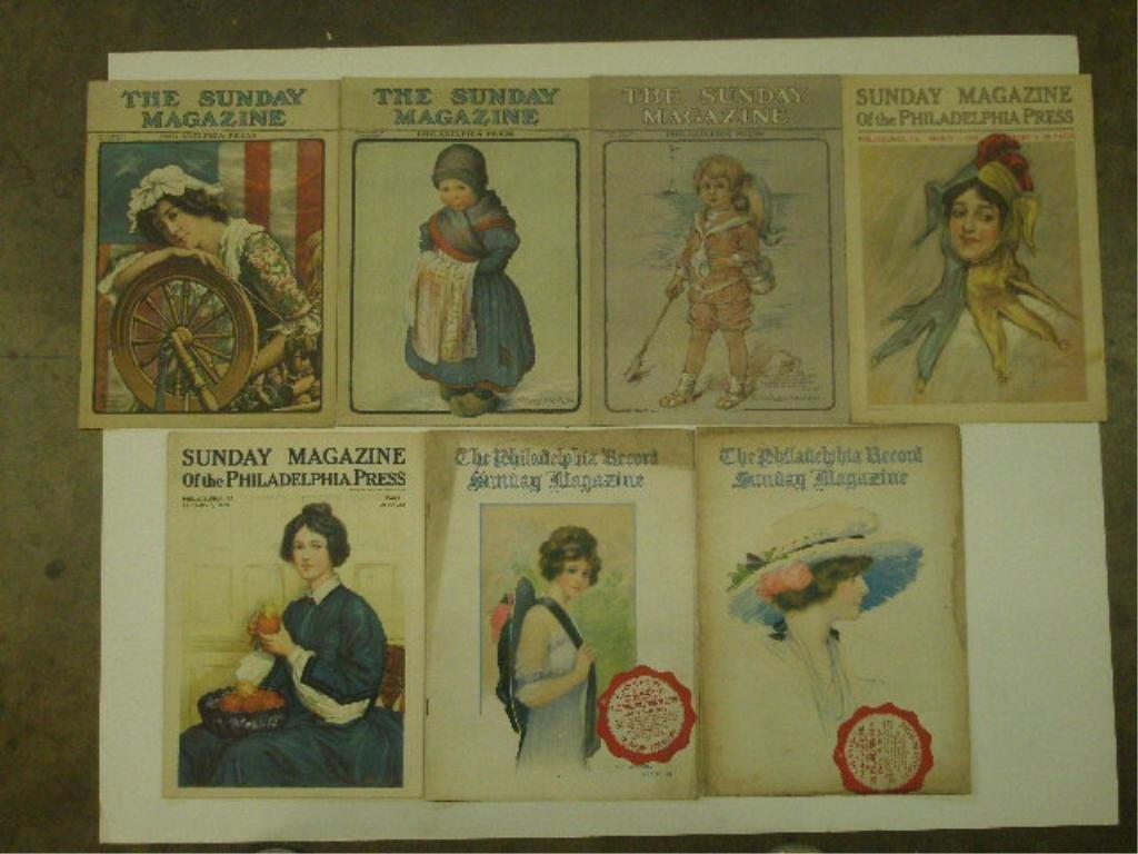 Early 20th c. Newspaper, Magazines & Novels