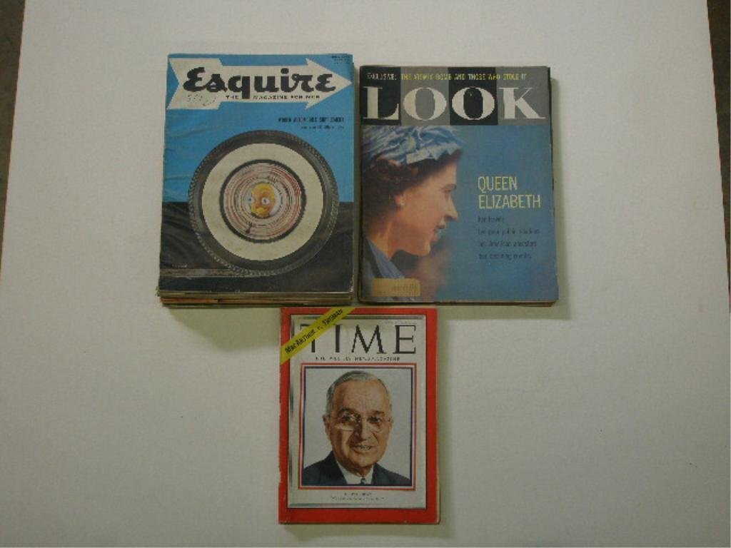 1930's-1950's Esquire, Time & Look Magazines