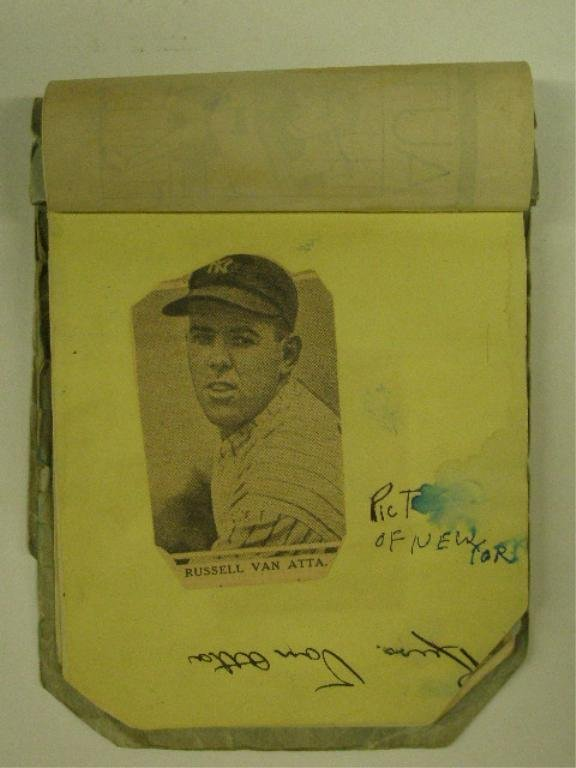 1930's Baseball Player Signed Autograph Book
