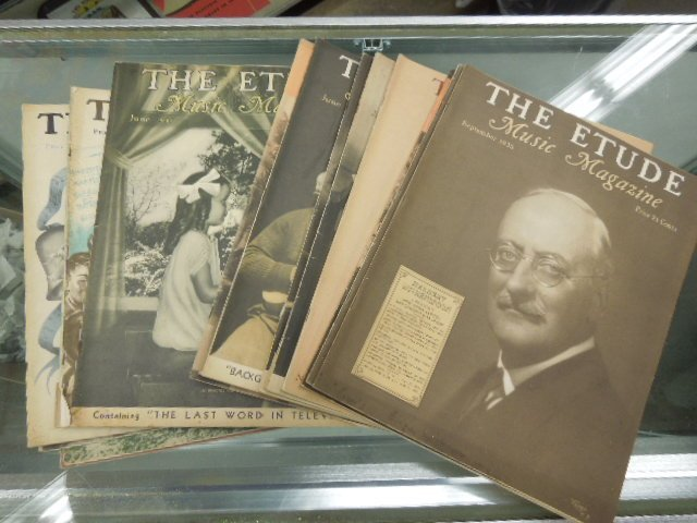"""Lot of 30 """"The Etude"""" Music Magazines 1930's-40's"""