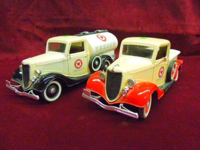 2 1930's Texaco Die Cast Trucks