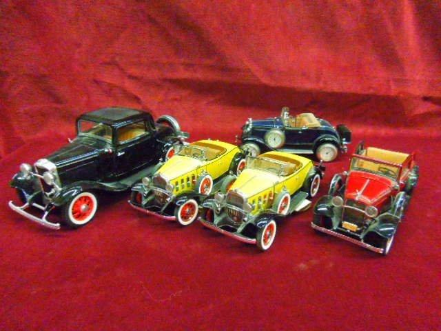 Five 1930's Die Cast Cars
