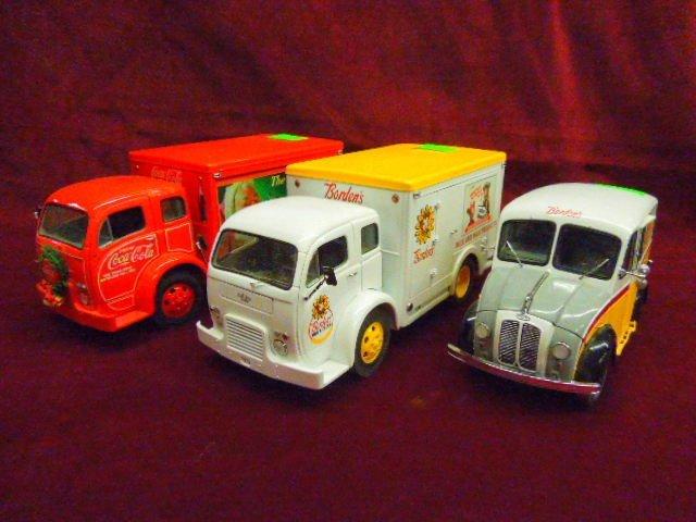 Three Die Cast Delivery Trucks