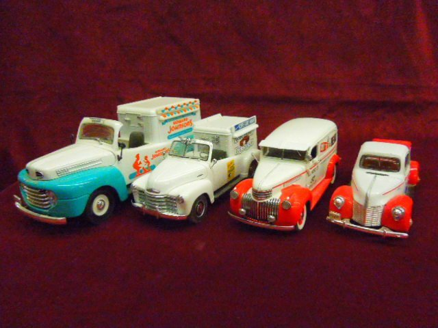 Four 1930's-1950's Delivery Trucks