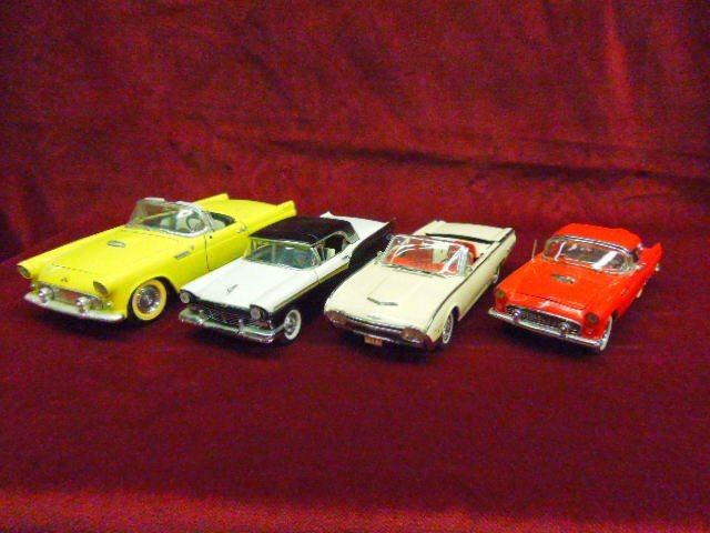 Four 1950's-60's Ford Cars