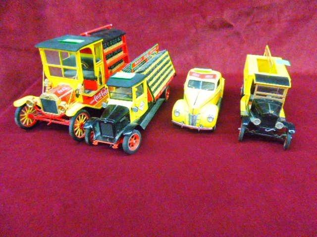 4 Coca Cola Die Cast Vehicles