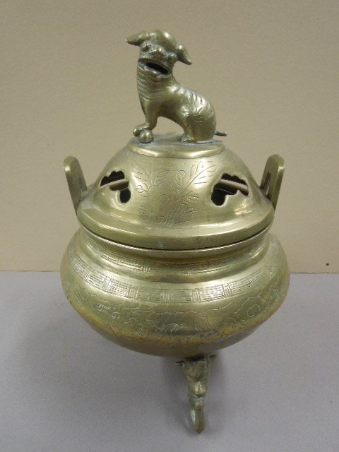 Chinese Brass Incense Burner