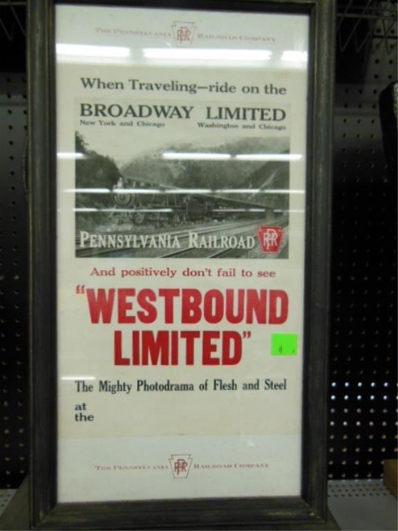 Framed P.R.R. broadside