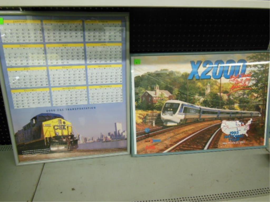 Railroad calendar and poster
