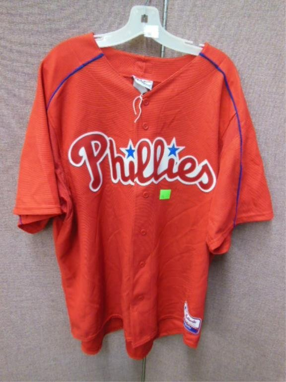 Red Philadelphia Phillies Blank Jersey