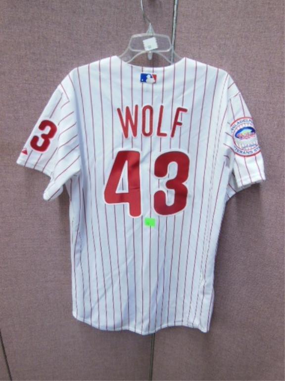 Randy Wolf #43 Pinstripe Phillies Jersey