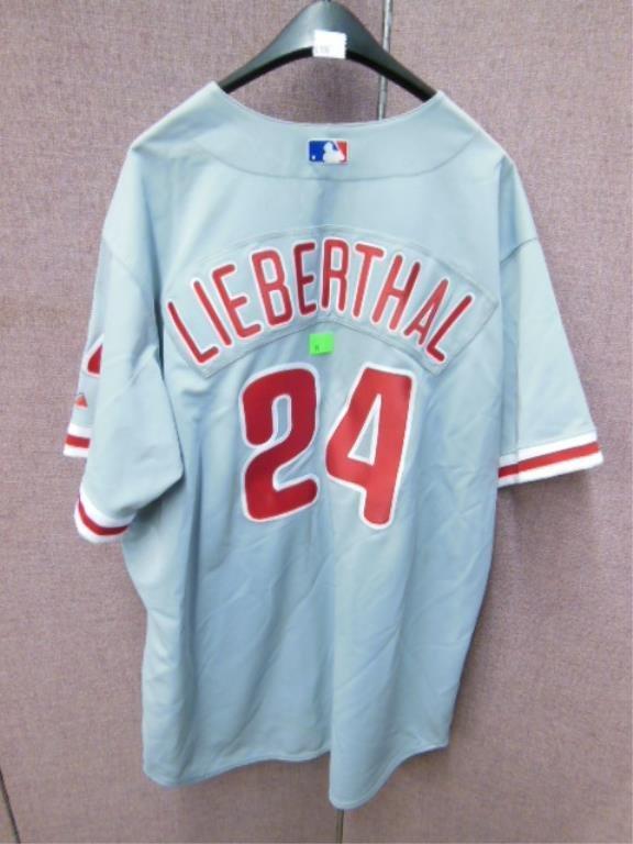 Mike Lieberthal #24 Grey Phillies Jersey