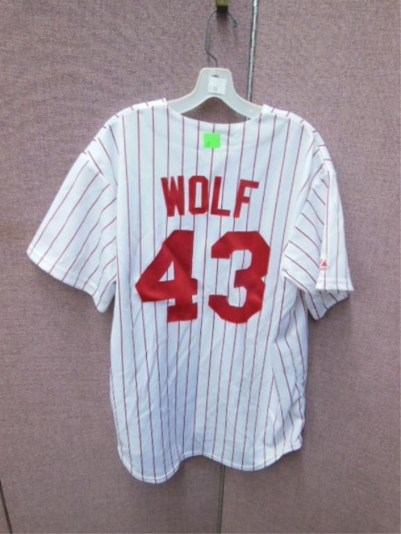 Randy Wolf #43 Phillies Pinstripe Jersey