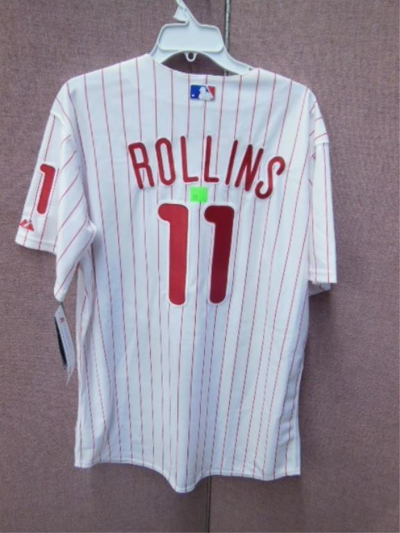 Jimmy Rollins #11 Phillies Pinstripe Jersey