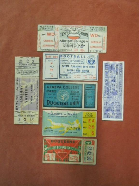 7 College Football Tickets & Stubs