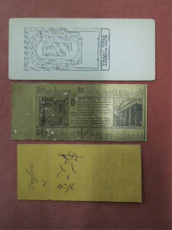 3 College Football Tickets, 1920s-30s - 2
