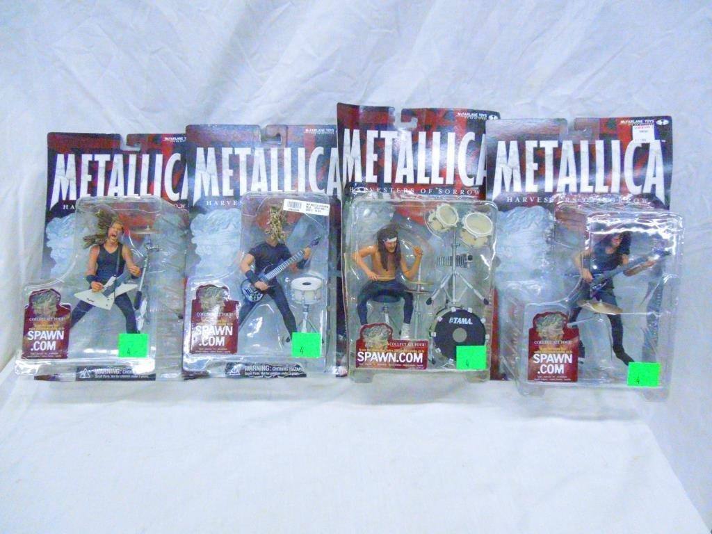 4 Metallica Figure Set By McFarlane