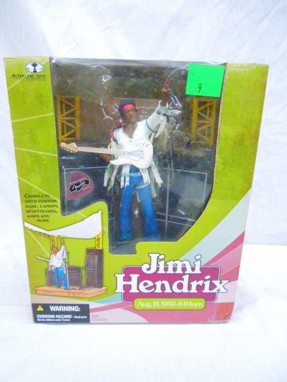 Jimi Hendrix & Janis Joplin Figures by Mc Farlane