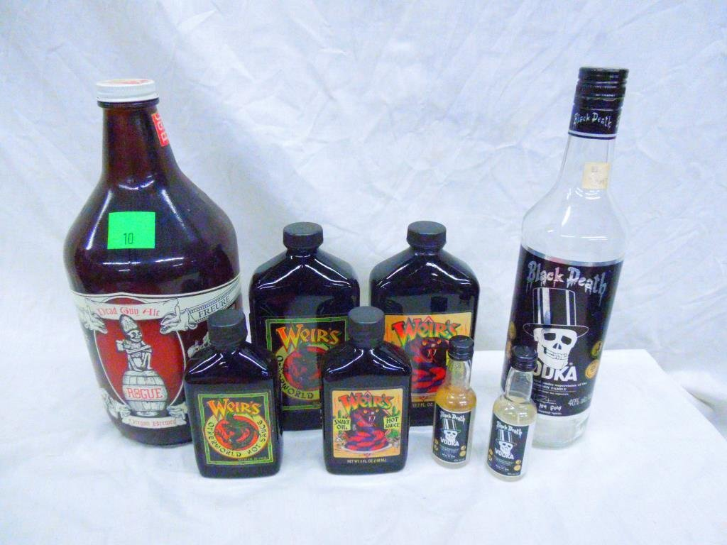 Lot of Grateful Dead Motif Bottles