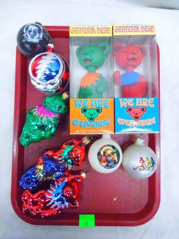 Lot of Grateful Dead Ornaments & Bobbleheads