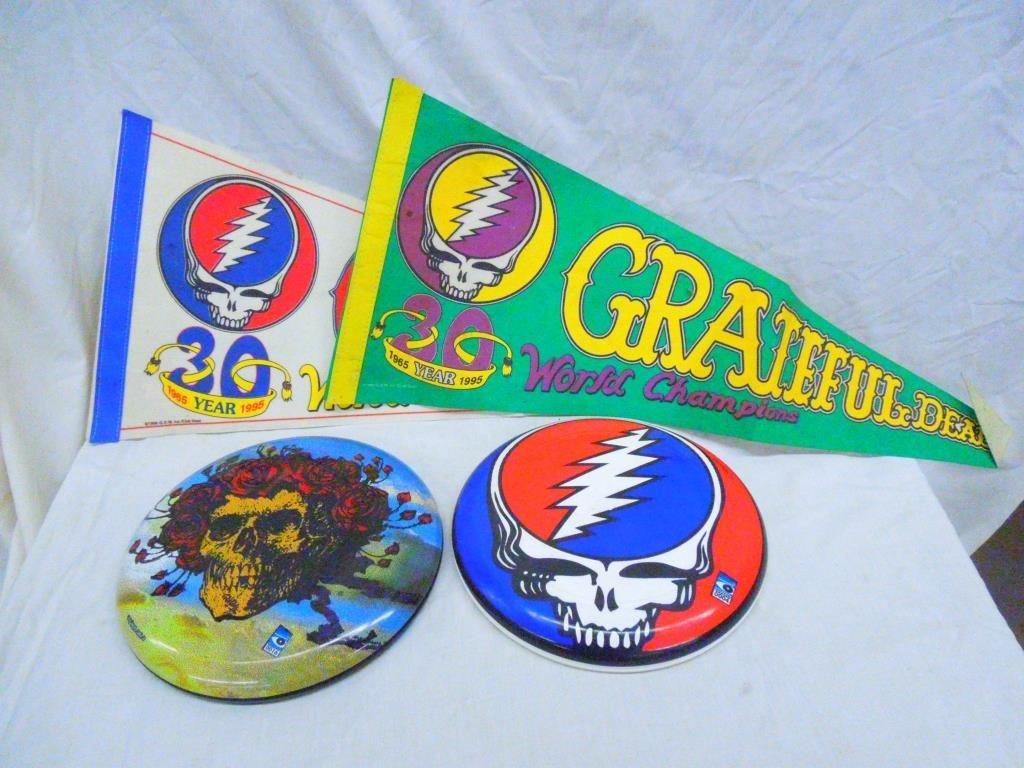 Lot of Grateful Dead Frisbees & Pennants