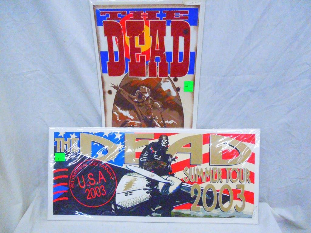 2 Grateful Dead Signed & Numbered Posters
