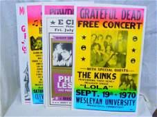 5 Vintage Concert Posters
