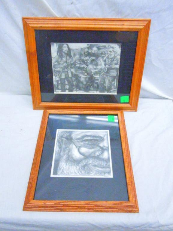 Phill Kutno Pencil Portrait Signed Lithographs