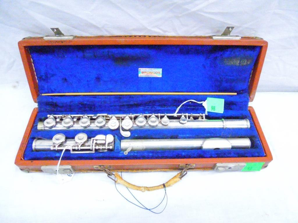 T.E. Olds & Son Silver Plated Flute SER# 202941