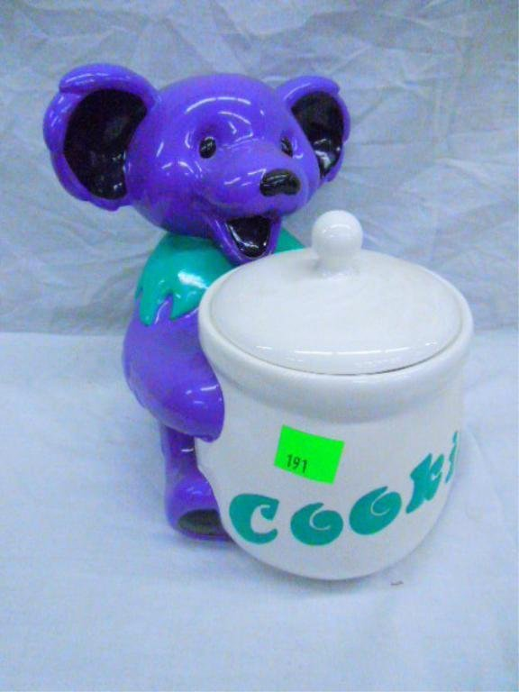 Grateful Dead Bear Cookie Jar With Original Box