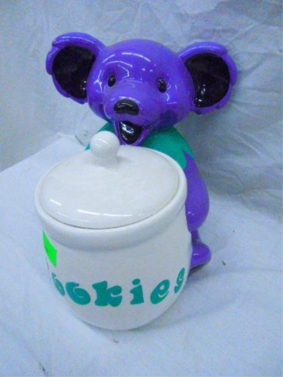 Grateful Dead Bear Cookie Jar With Original Box - 2